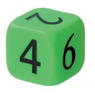 Duża kostka do gry - cyfry 1-6 - produkt z tej samej kategorii