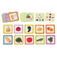 Fiszki zdjęciowe - owoce i warzywa - produkt z tej samej kategorii