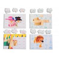 Angielskie puzzle cz. 1 - zwierzęta, szkoła i czas wolny