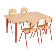 Stolik przedszkolny reg 59-76 czerw