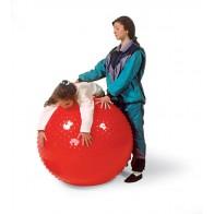 Duża piłka sensoryczna 100 cm - czerwona