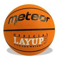Piłka METEOR LAYUP pomarańczowa roz 5