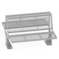 Podwójna ławka metalowa