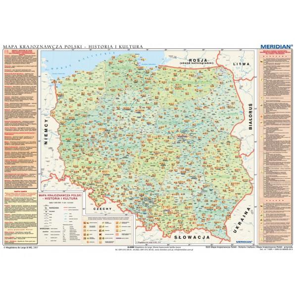 DUO Mapa krajoznawcza Polski - historia i kultura / przyroda