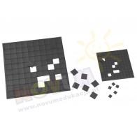 Samoprzylepne kwadraty magnetyczne