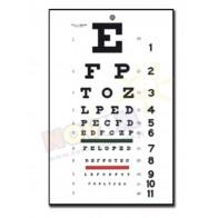 Tradycyjna Tablica optometryczna Snellen