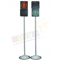Przesuwany sygnalizator 2-komorowy dla ruchu pieszego