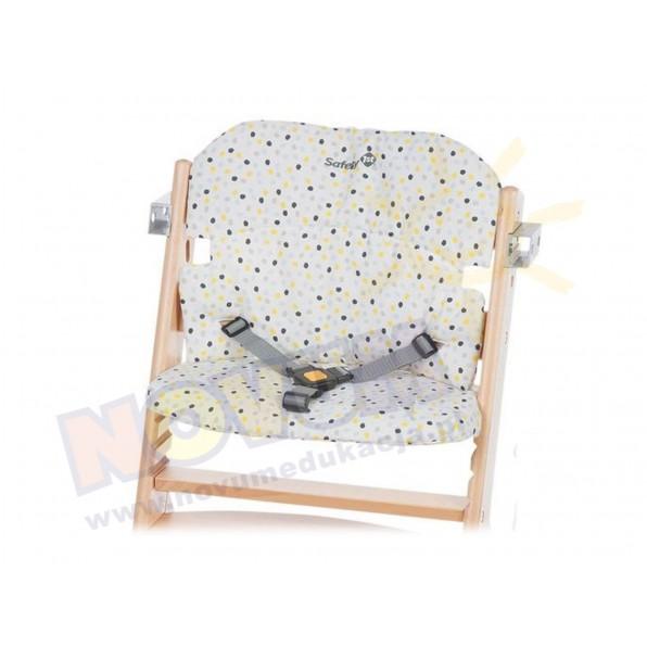 Wkładka do krzesełka Timba - szare kropki