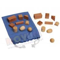 Drewniane kształy geometryczne