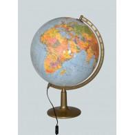 Globus polityczno-fizyczny podświetlany  Ø 42