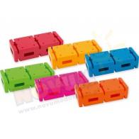 Zestaw 6 kolorowych cegiel