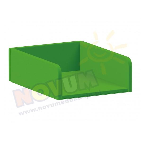 Materac do przewijaka z półkami, zielony