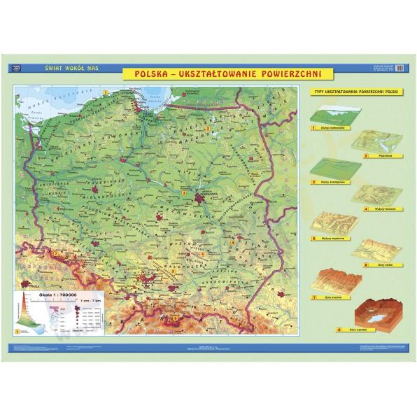 Dwustronna Mapa Polski Ogolnogeograficzna Krajobrazowa