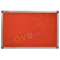 Tablica korkowa w aluminiowej ramie 100 x 200 cm - czerwona