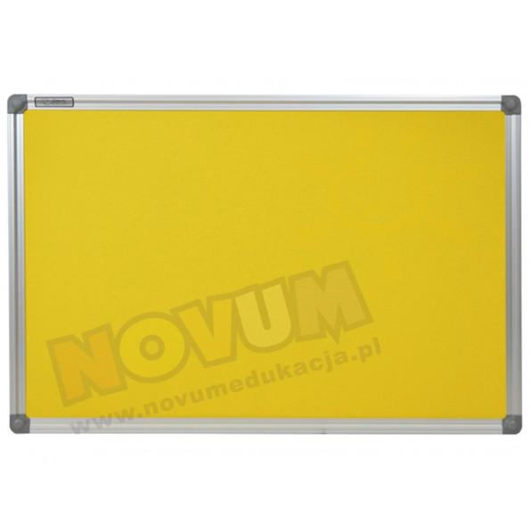 Tablica korkowa w aluminiowej ramie 100 x 200 cm - żółta