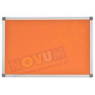Tablica korkowa w aluminiowej ramie 100 x 200 cm - pomarańczowa