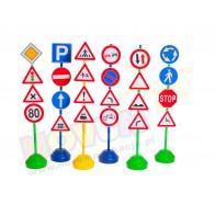 Zestaw znaków drogowych-podstawy