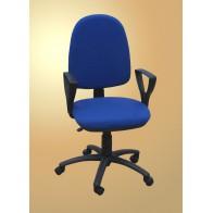 Krzesło nauczycielskie obrotowe, z podłokietnikami