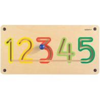 Tabliczka ścienna - Cyfry 1-5