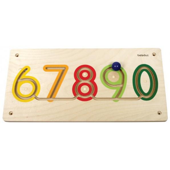 Tabliczka ścienna - Cyfry 6-0