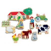 Magnetyczne zabawy - Życie na wsi