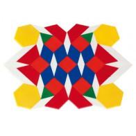 Mozaika wielokątów - 250 figur z tworzywa