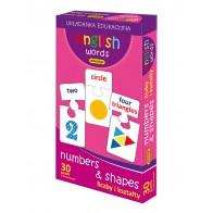 English words - liczby i kształty