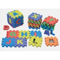 Puzzle z pianki - litery, 26 sztuk