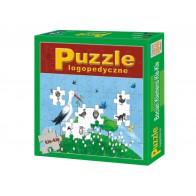 Puzzle logopedyczne. Bocian Klemens Kle-Kle