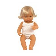 Lalka europejska 40 cm z włosami - dziewczynka