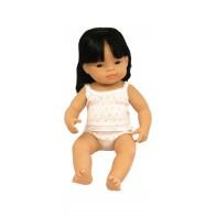 Lalka azjatycka 40 cm z włosami - dziewczynka