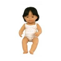 Lalka azjatycka 40 cm z włosami - chłopiec