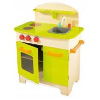 Kompaktowa kuchnia drewniana