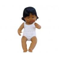 Lalka latynoska 40 cm z włosami - dziewczynka