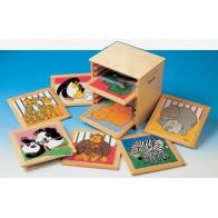 Puzzle dla maluchów - Małpa