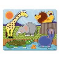 Nakładanka dotykowa - zwierzęta w zoo