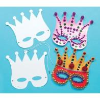 Maski do dekorowania - 12 sztuk - korony