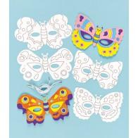 Maski do kolorowania - 6 sztuk - motyle