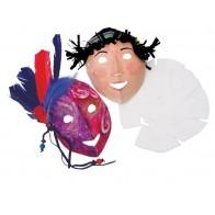 Maski do dekorowania - twarze - 40 sztuk