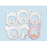 Maski do dekorowania - zwierzęta - 24 sztuki