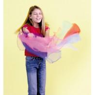 Zwiewne chusty 140 x 140 cm - 10 sztuk w 10 kolorach