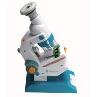 Mikroskop 300x z preparatami