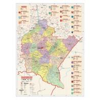 Województwo podkarpackie - mapa administracyjna