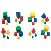 Mini bryły logiczne do klasyfikowania - 32 sztuki