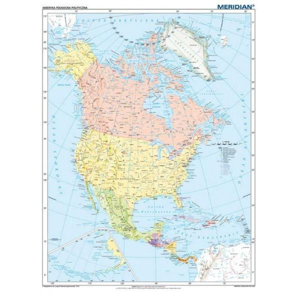 Ameryka Polnocna Mapa Polityczna