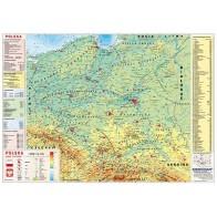Mapa fizyczna Polski z elementami ekologii