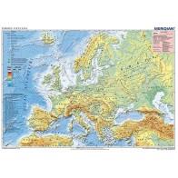 Mapa fizyczna Europy (z elementami ekologii)