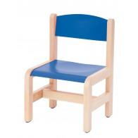 Krzesełko bukowe NOVUM wys 26 cm niebieskie