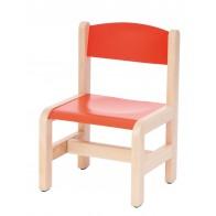 Krzesełko bukowe NOVUM wys 26 cm czerwone
