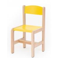 Krzesełko bukowe NOVUM wys 35 cm żółte